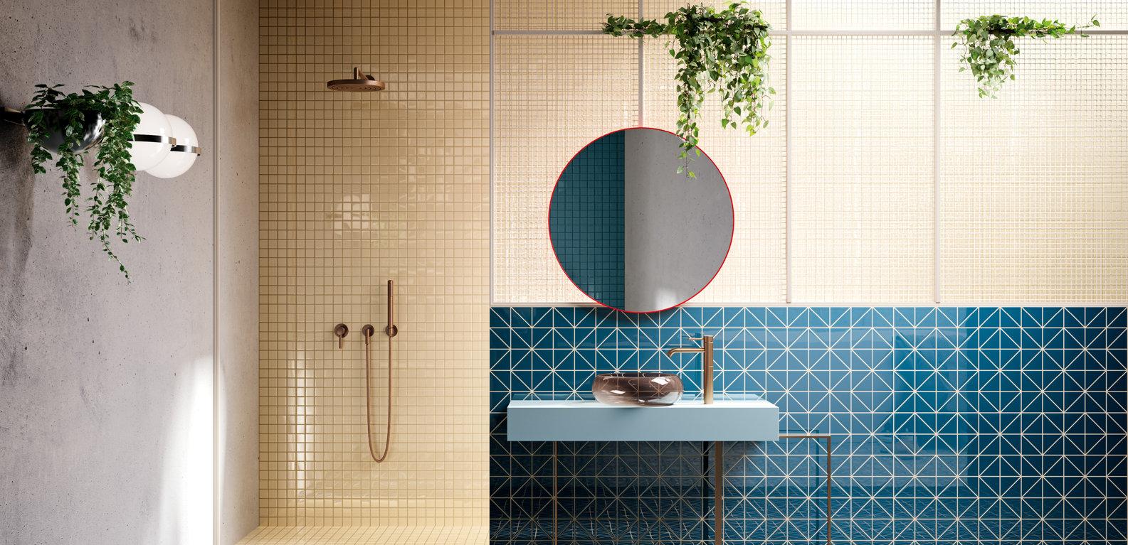 Piastrelle Bagno Mosaico Viola gres porcellanato, piastrelle bagno e cucina in gres smaltato