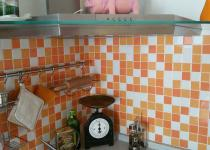 Rivestimento cucina Vogue Link Trasparenze MIX TR 02 superficie ludica.  5x5 montato su rete  (modulo 30x30)
